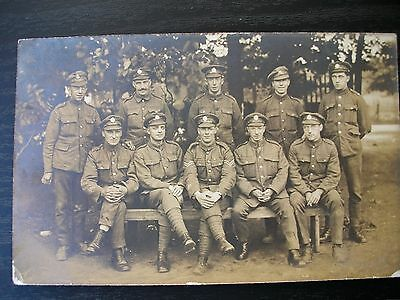 WW1 photo Group of Soldiers MIDDLESEX AND R.E