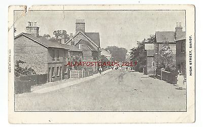 Beds Sandy High Street 1904 Vintage Postcard