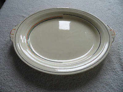 Art Deco Grindley Oval Serving Plate Hand Painted