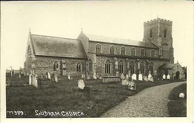 LUDHAM CHURCH, NORFOLK (REAL PHOTOGRAPHIC POSTCARD) c1910