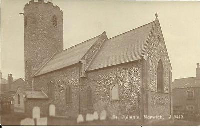 ST. JULIAN'S CHURCH, NORWICH, NORFOLK (RP SEPIA POSTCARD) c1910