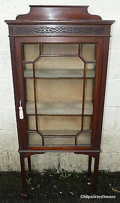 Edwardian Display Cabinet With Key