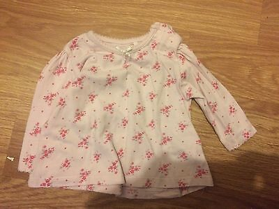 Next Baby Girl 0-3 Months Pink Floral Pattern Long Sleeved Top (Ex Cond)