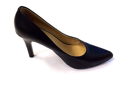 """Nine West Black Leather Women's 4"""" Classic Heel Size 9M Padded Insoles"""