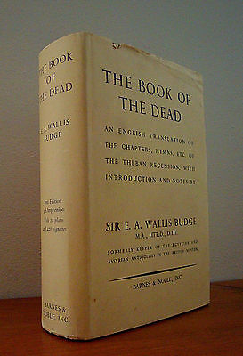 Rare 1950s BOOK OF THE DEAD by E.A  Budge RARE OCCULT MAGICK HARDCOVER VINTAGE