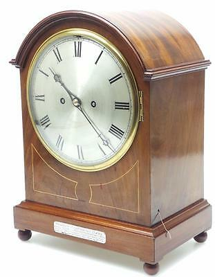 Awesome Inlaid  Mahogany Twin Fusee Musical Bracket Clock - Westminster Chime