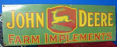1930's John Deere Farm Implements Porcelain Sign