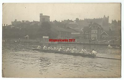 Berks Boat Race Windsor Castle Real Photo Vintage Postcard