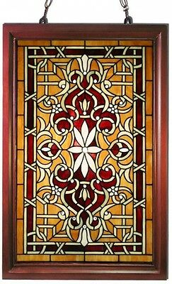Stained Glass Panel for Window Tiffany Style Suncatchers Mission Victorian Frame