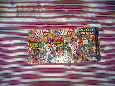 Lotto  Iron Man Blisterati Di Cui Due Con Bustina Ed. Marvel Italia Anni 90
