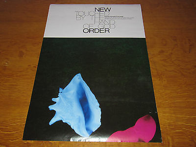 New Order - Touched By The Hand of God -Original UK promo poster Factory Records