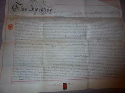1890 MANUSCRIPT VELLUM INDENTURE LEASE DOCUMENT GWENNAP MANOR StDAY CORNWALL #10