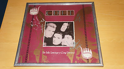 """The Cult - She Sells Sanctuary -Fully Signed 12"""" incl. Nigel Preston (not promo)"""