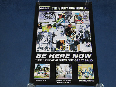 Oasis - Be Here Now / Morning Glory / Definitely Maybe - UK promo poster