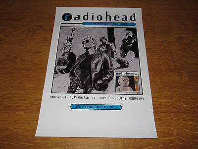 Radiohead - Anyone Can Play Guitar - Original 1993 UK promo poster