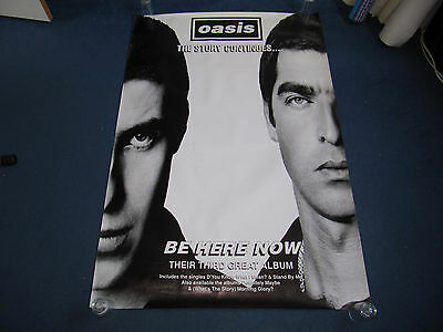 Oasis - 1997 Be Here Now UK promo poster (Britpop Blur Suede Stone Roses)