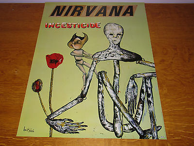 Nirvana - Incesticide - Original 1992 USA Geffen Records promo poster