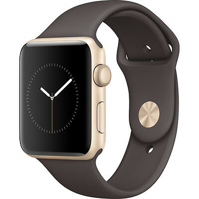 Apple Watch Series 2 42mm (Gold Aluminum Case, Cocoa Sport Band)