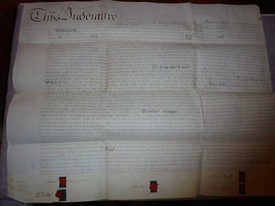 1830 MANUSCRIPT VELLUM INDENTURE LEASE DOCUMENT GWENNAP MANOR StDAY CORNWALL #12