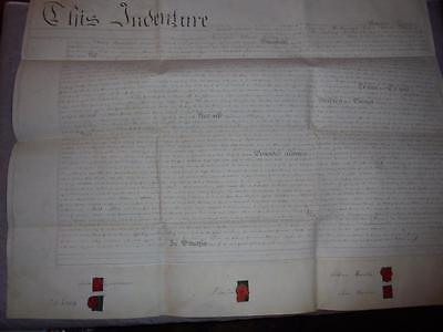 1830 MANUSCRIPT VELLUM INDENTURE LEASE DOCUMENT GWENNAP MANOR StDAY CORNWALL #13