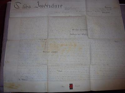 1830 MANUSCRIPT VELLUM INDENTURE LEASE DOCUMENT GWENNAP MANOR StDAY CORNWALL #14