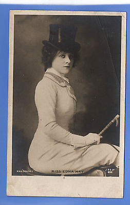 Old Vintage Rp Beagles Postcard Edwardian Actress Miss Edna May