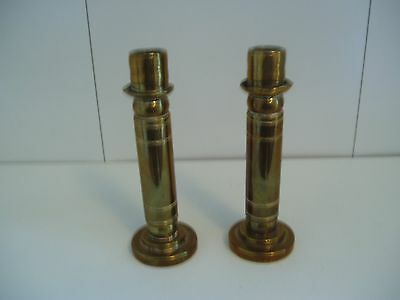 Pair Of Small Vintage Brass Candlesticks