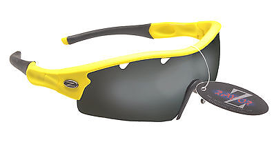 RayZor Uv400 1 Pce Yellow Vented Smoked Mirrored Lens Archery Sunglasses RRP£49