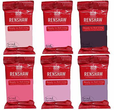 Renshaws Icing Ready Roll Out 250g Colour Fondant Sugarpaste for Cake Decorating