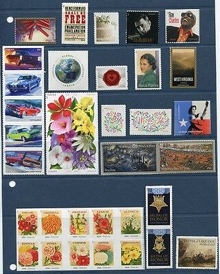 US 2013 Complete Year Set - Commemoratives and Definitives - 153 Stamps USA NH