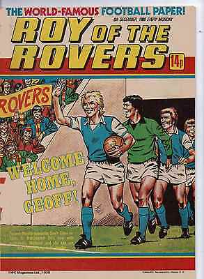 ROY OF THE ROVERS COMIC 6th December 1980 VG
