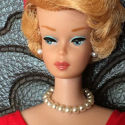 """Replacement Pearl Choker Necklace, """"Safe"""" Pearl Earrings Set for Vintage Barbie"""
