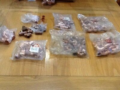 15mm soldered copper fittings job lot new