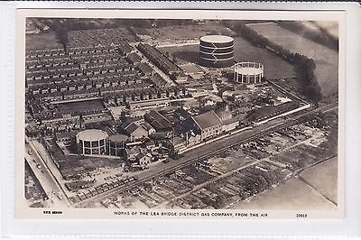 Postcard Works Of The Lea Bridge District Gas Company from the Air. Leyton.