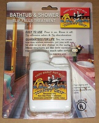 JOHNNY GRIP USA 4-oz Bottle NON-SLIP FALL Bathtub Shower Floor TREATMENT New