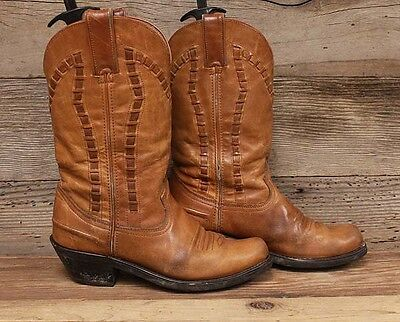 Durango Womens Leather Square Toe Western Cowboy Boots sz 7M