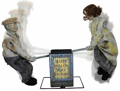 See Saw Dolls Playground Animated Halloween Prop Haunted House Decoration