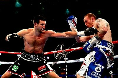 Boxing Carl Froch Original Hand Signed Photo 12x8 With COA