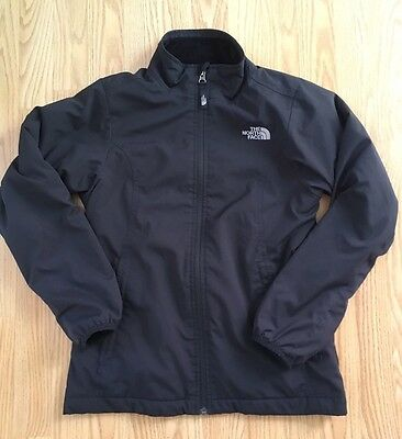 THE NORTH FACE Jacket Girls Large 14 16 Black Full Zip