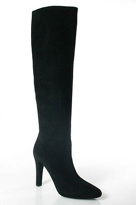 Ralph Lauren Collection Black Suede Almond Toe Knee High Boot Shoe Size 7