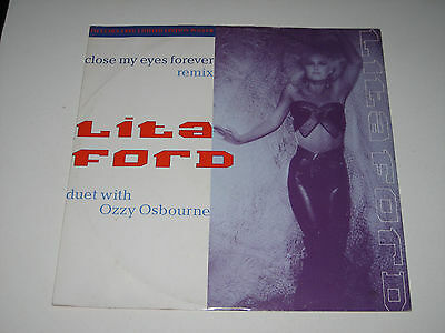 "Lita Ford & Ozzy Osbourne - Close My Eyes Forever (3 Track Vinyl 12"" EP - 1988)"