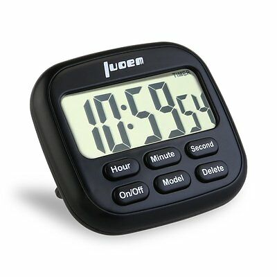 LUOEM Digital Kitchen Timer 24 Hours Magnetic Timer with Large LCD Display and
