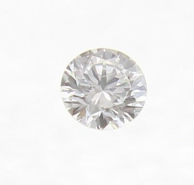 0.07 Carat H Color VVS2 Round Brilliant Natural Loose Diamond For Ring 2.63mm