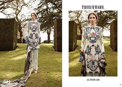 Brand New Original Tabassum Mughal Lawn 2017 Embroidered Luxury Lawn Suit