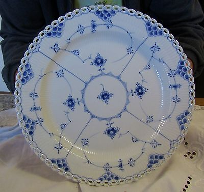 """Royal Copenhagen Blue Fluted Full Lace 13""""  Chop - Reduced  C $ 450 and US $328"""