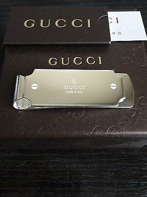 Brand New Gucci Sterling Silver .925 Money Clip Made In Italy $260 Free Shipping