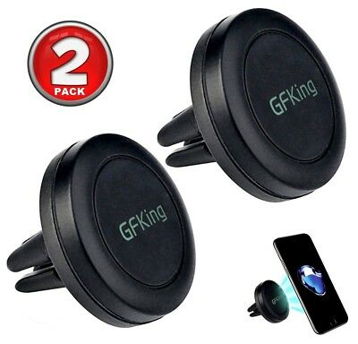 2Pk Black GFKing Car Mount Magnetic Air Vent Phone Holder iPhone 7 7Plus 6 6S 5