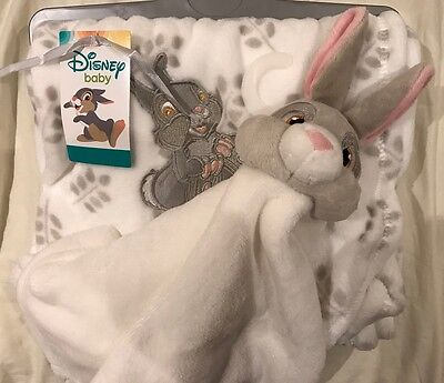 Bnwt Disney Bambi Thumper Soft To Touch Babies Blanket And Comforter Set Primark
