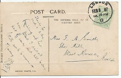LONDON 1907  SKELETON POSTMARK ON KING EDWARD VII ½d GREEN POSTCARD  800