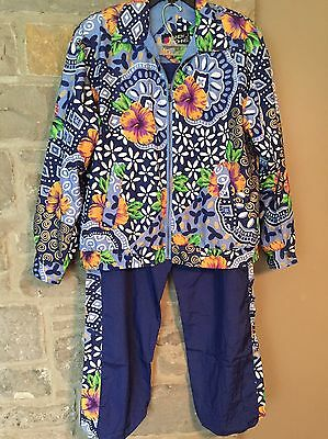 Vintage jogging suit windbreaker jacket Tracksuit Andy Johns size Small Nice